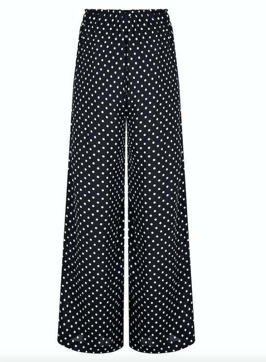 Alina beach trousers, black/white polka dot