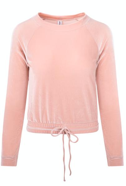 Lola sweatshirt, velvet nude