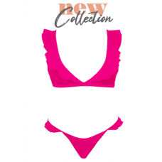 Arielle two-piece swimsuit, neon pink