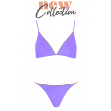 Vera two-piece swimsuit, lilac/silver