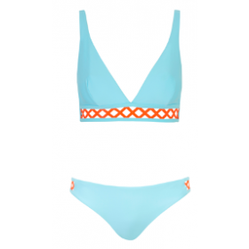 Bikini Ines, Blue-Orange