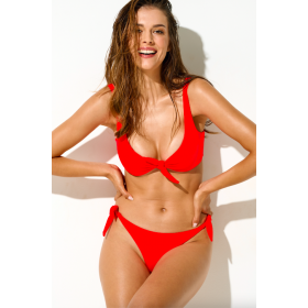 Tina two-piece swimsuit, neon red