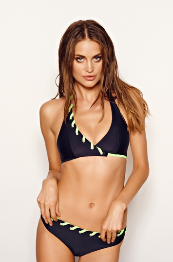 Bikini, Errin, black/acid green